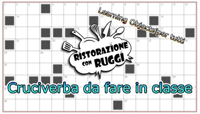 cruciverba ruggi ristorazione learningobjects alberghiero verifica 1