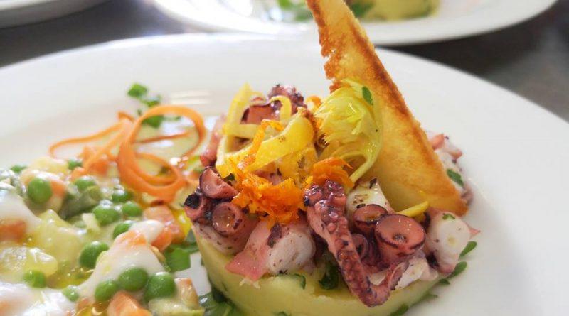 insalata di polpo e patate rivisitata antipasti ristorazione con ruggi