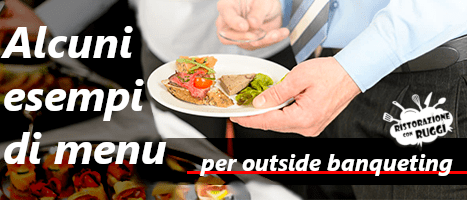 menu esempi catering banqueting ristorazione con ruggi